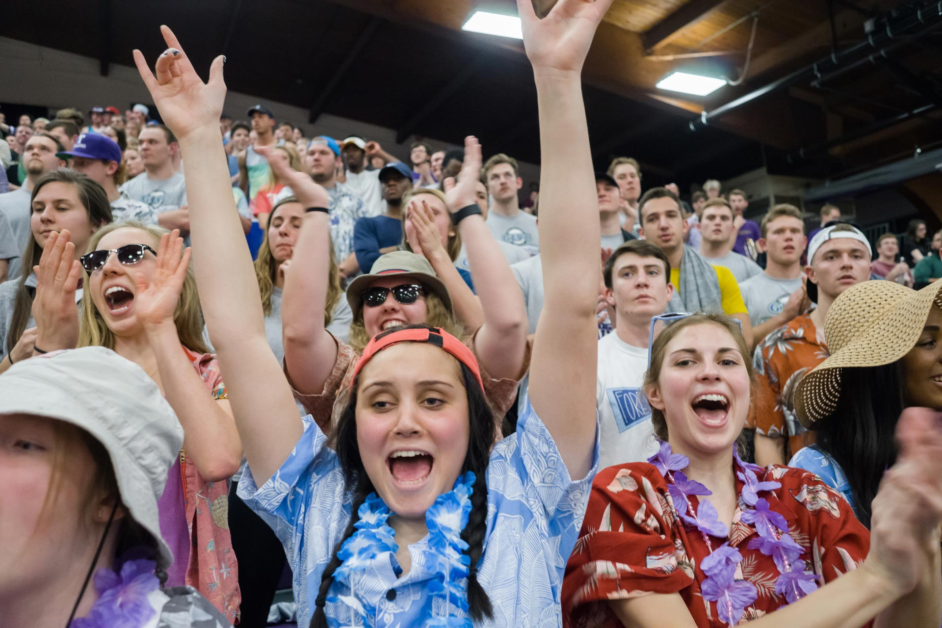 Students at ballgames