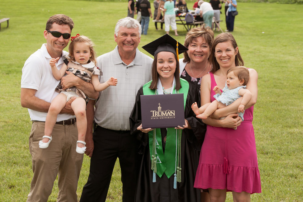Graduation- Graduate with Family