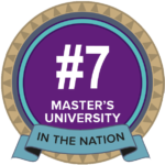 Ranked No. 7 Master's University in the Nation by Washington Monthly
