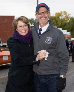 President Troy D. Paino shown with his wife, Kelly