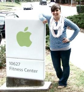 Evan Rioux landed an internship in Apple's Wellness Department.