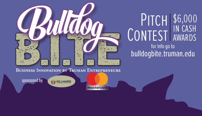 For the Bulldog B.I.T.E. competition, Truman students are invited to pitch innovative business ideas for a chance to win cash prizes