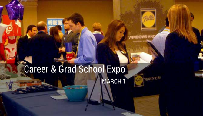 Career and Grad School Week includes a wide range of activities devoted to helping students prepare for internship and job searches