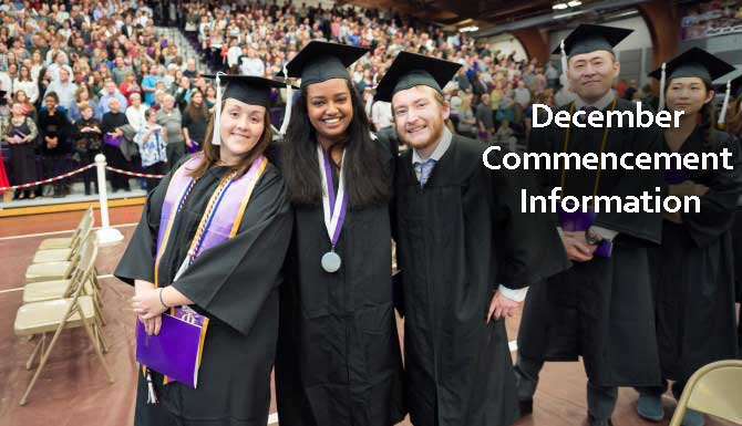 Join us for the December Commencement ceremony on Saturday, Dec. 17, 11 a.m, in Pershing Arena