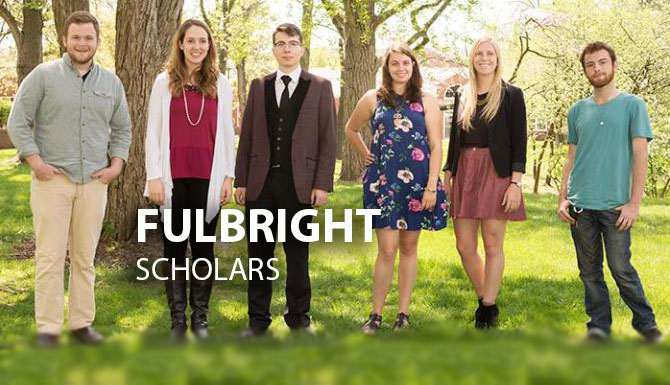 Nine Truman students received the prestigious Fulbright awards and will teach English abroad during the coming school year