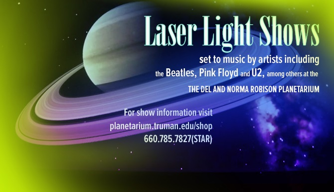 Get your tickets for laser light shows featured in the Planetarium throughout October