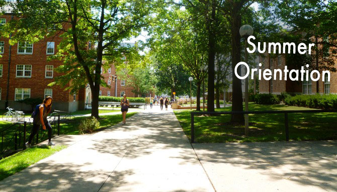 Throughout the summer, new students will attend one of our orientation sessions to prepare for the fall semester