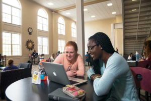 Studying in the Student Union Building