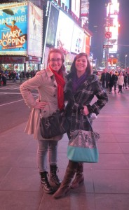 mary and april in times square