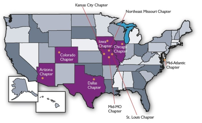 Truman Alumni Chapter Locations