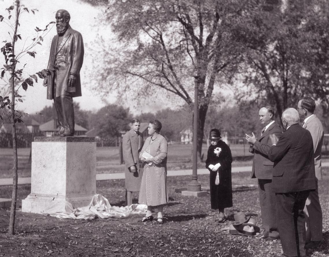 Dedication ceremony for the statue of Joseph Baldwin