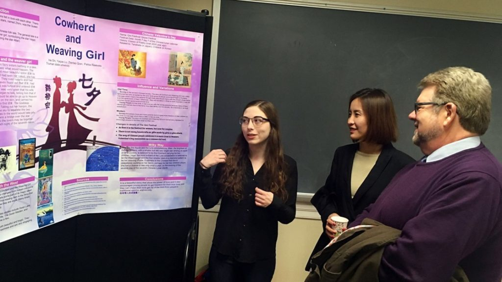 Poster display for student research project