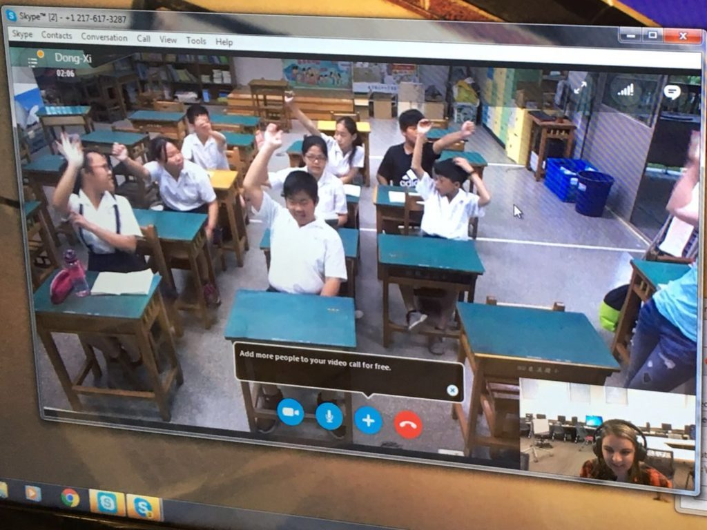 Taiwan Connect, service learning course in which Truman students teach English to students in Taiwan via Skype