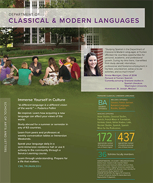 Quick Facts Brochure for Classical and Modern Languages Program