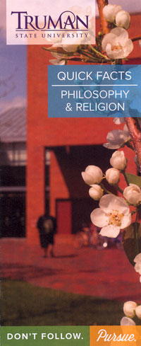 Philosophy & Religion Quick Facts Brochure