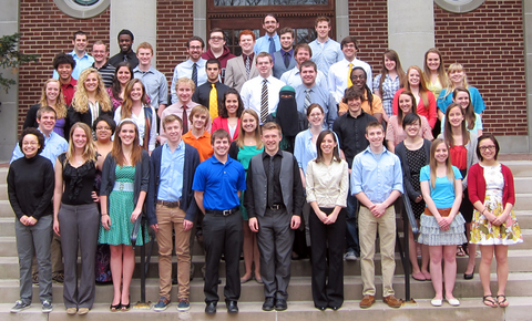 Dr. Shaffer's Spring 2013 Applied Psychophysiology Research Team.