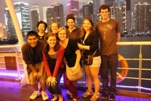 Truman students on the Huang-Pu River cruise at Shanghai