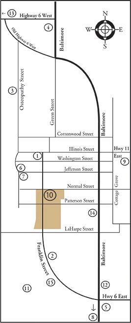 Kirksville Map