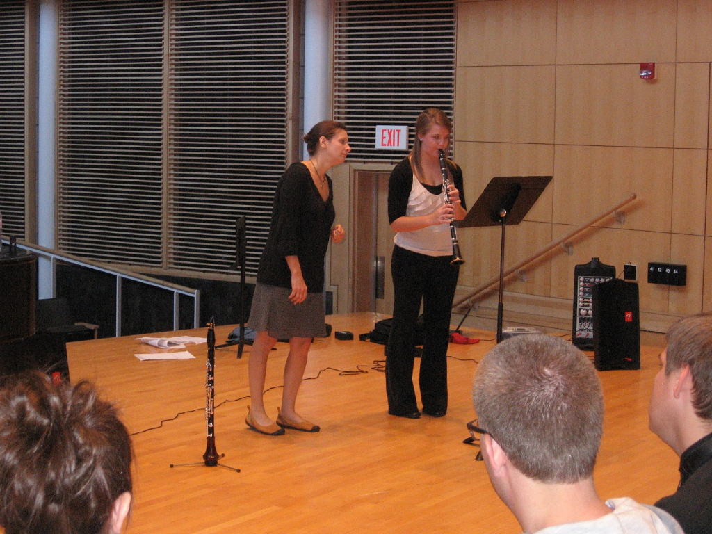 Master class with guest clarinetist Dr. Cynthia Doggett from Central College