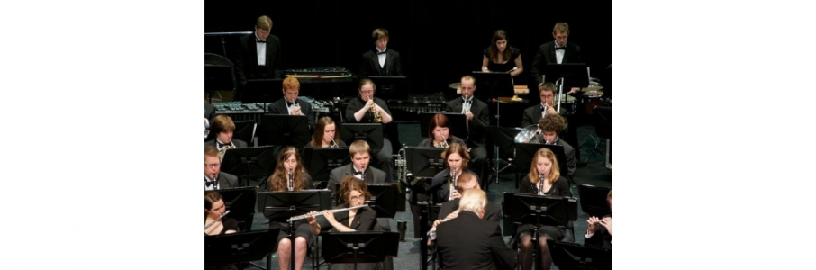 Horn students participating in Wind Symphony