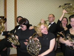 The Wind Symphony Horn Section after a performance at the 2008 MMEA