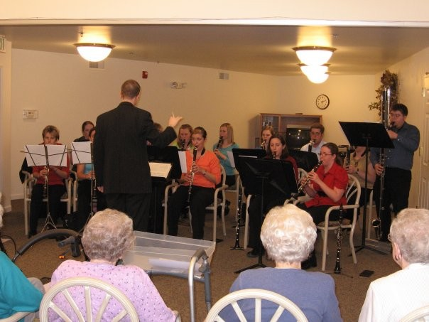 The Truman Clarinet Choir performing at a local assisted living center (2007)