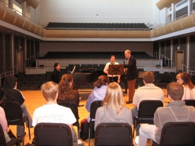 Master class with guest clarinetist Dr. David Gresham from Illinois State University