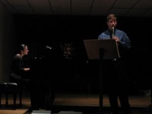 Dr. Krebs performing a recital in Costa Rica