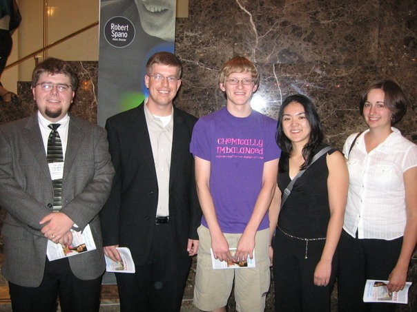 Truman clarinetists and Dr. Krebs at the 2006 International ClarinetFest in Atlanta, GA