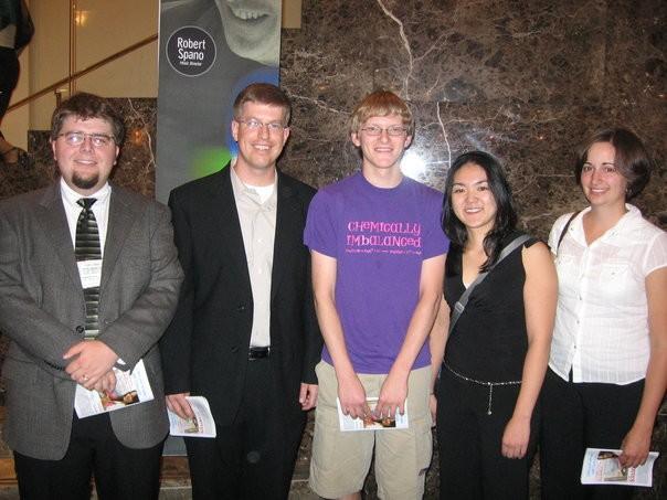 Truman clarinetists and Dr. Krebs at the 2006 International ClarinetFest in Atlanta, GA