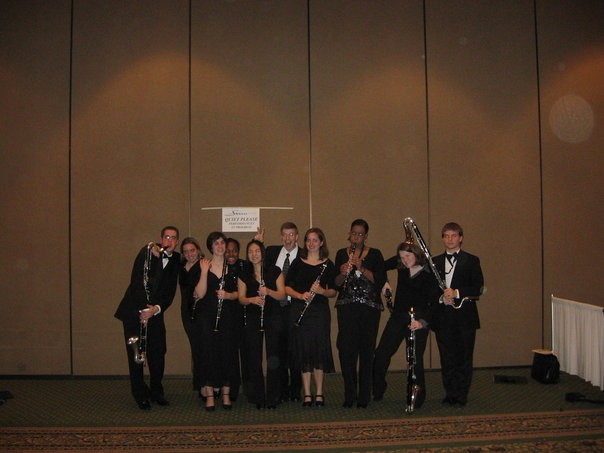 The Wind Symphony clarinet section after their 2006 performance at MMEA