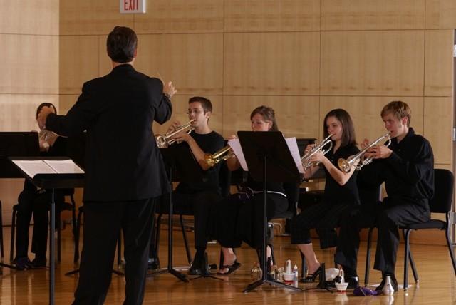 Trumpet Ensemble rehearsal