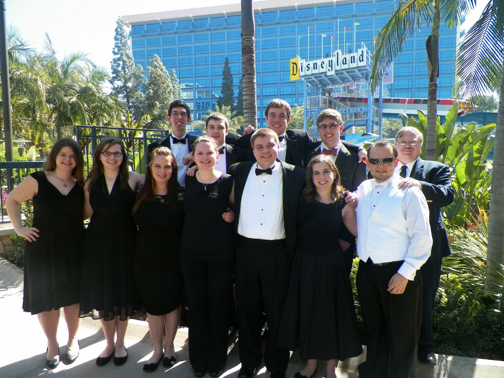 Truman Clarinet Ensemble after their performance at the 2013 national MTNA Conference in California