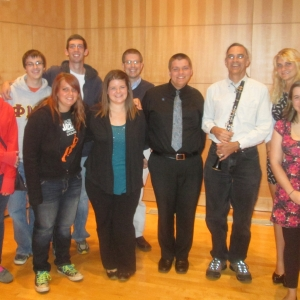 Truman clarinet students with Dr. Eric Mandat after his guest master class