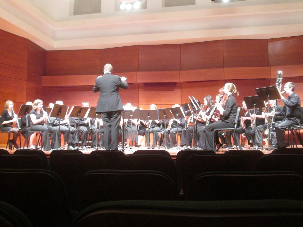 Truman Clarinet Choir performing at the 2012 Vandoren Clarinet Ensemble Festival in Greensboro, NC