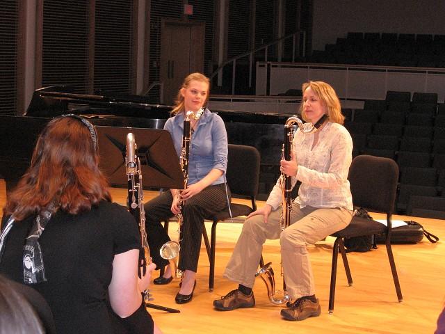Bass clarinet master class with guest artist Linda Phipps