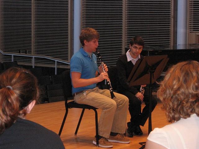 Master class with guest clarinetist Boris Allakhverdyan from the Kansas City Symphony