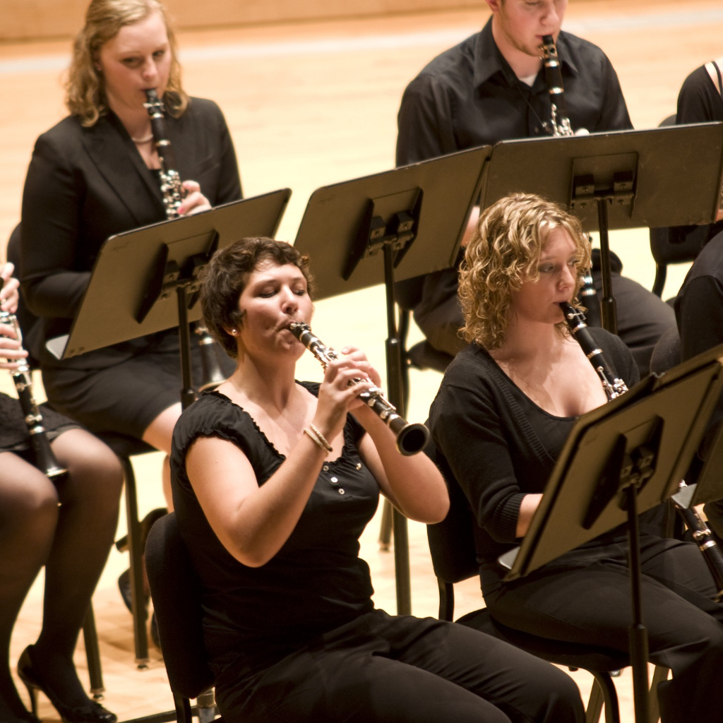 Truman Clarinet Choir premiering The Shaman Speaks by Vivian Fung (2009)