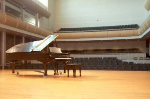 piano on stage