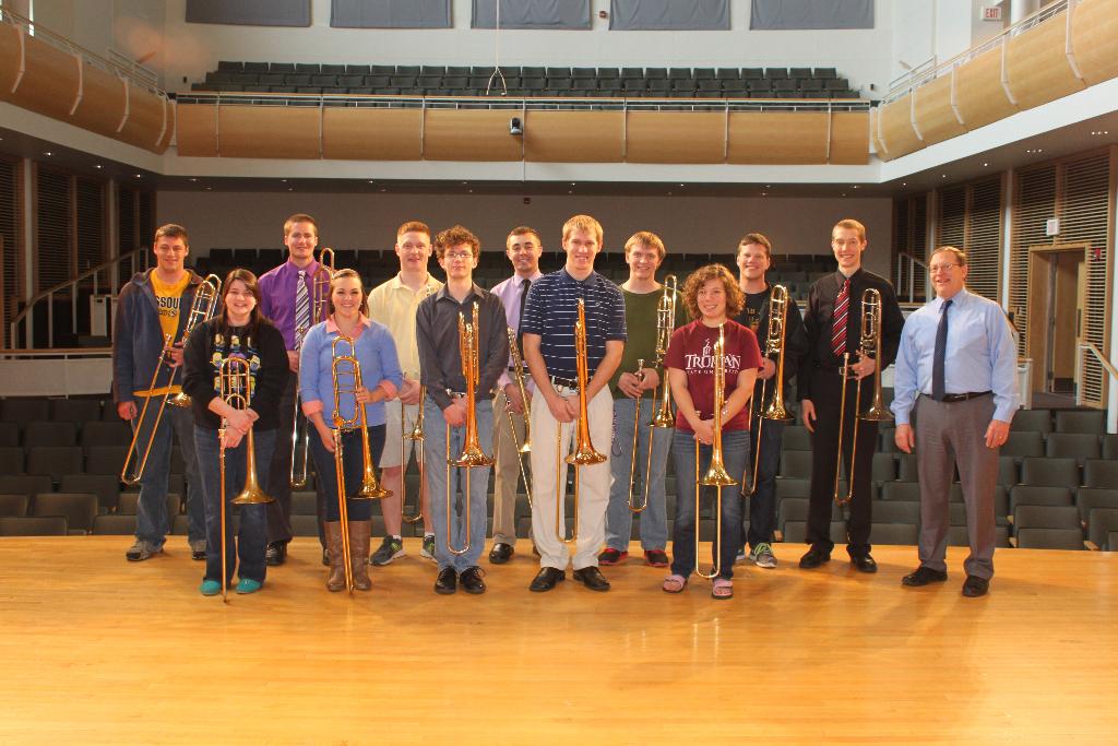 Trombone students