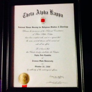 Theta Alpha Kappa certificate