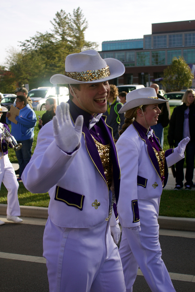 Drum major of the Statesmen marching band