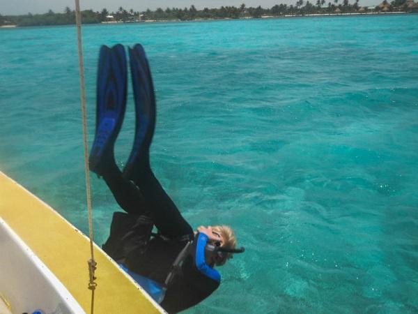 Patrick Moranville Diving in Belize