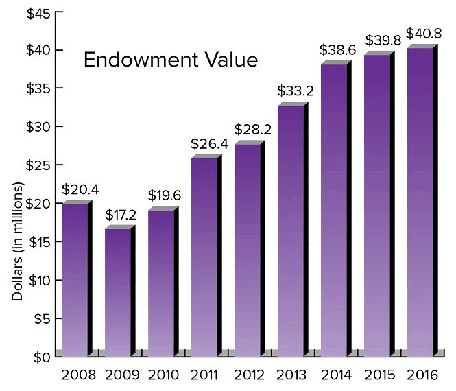 Chart - Truman State University Foundation Endowment Value