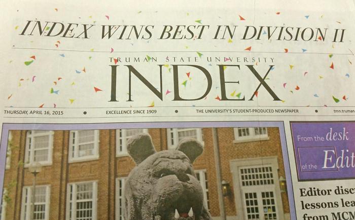 Index Wins Best in Division II Headline