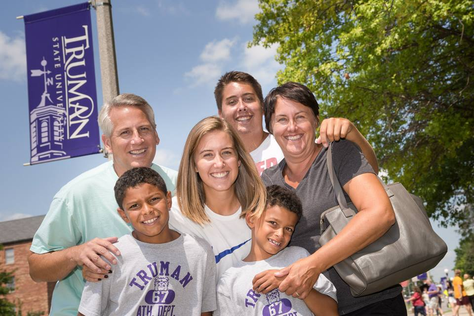 Truman student and her family members