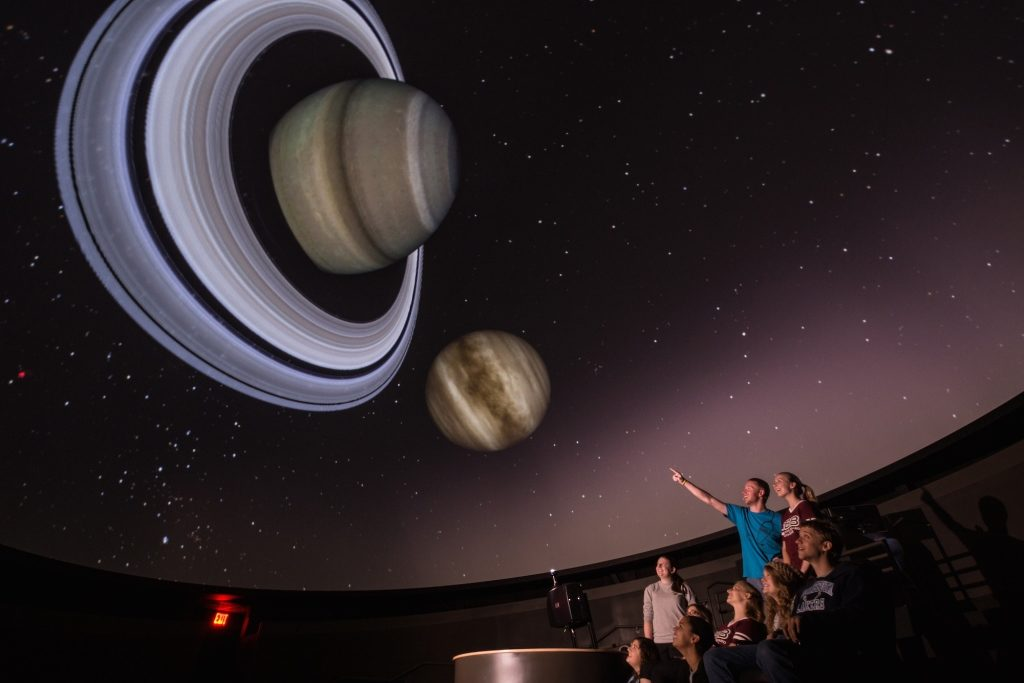Take a tour of the solar system in the Del and Norma Robison Planetarium