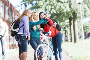 At Truman, biking is a popular form of transportation for students.