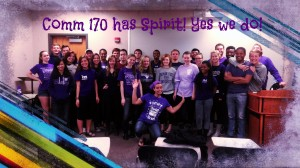 Comm 170 Class at Truman on Spirit Day