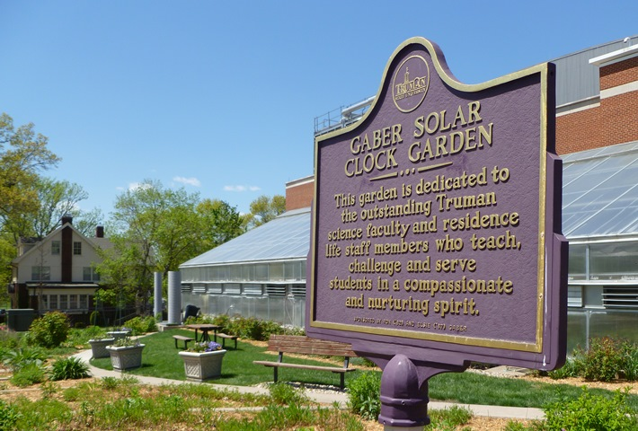 Gaber Solar Clock Garden Sign
